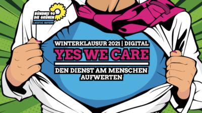 Winterklausur 2021, digital: Yes, we care! Den Dienst am Menschen aufwerten